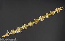 Gold Armband 24 Karat vergoldet Altin Kaplama Bilezik Bileklik Armkette Hediye