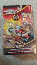 Power Rangers Megaforce Ultra Red Ranger Dragon Cycle Zord Builder Figure Toy