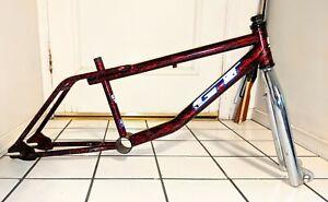 GT PERFORMER 1996 Survivor Frame & fork lava / plasma old mid school BMX vintage