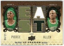 PAUL PIERCE/RAY ALLEN 08 UD PREMIER QUAD CELTICS JERSEY CARD #8/25!