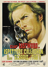 DIRTY HARRY ISPETTORE CALLAGHAN IL CASO SCORPIO E' TUO MANIFESTO EASTWOOD SIEGEL