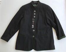 WOLFSTAEDTER LODEN AUSTRIAN Wool Coat Gray Green Trim Jacket EU 40 US 8