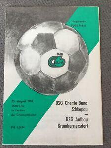 25.8.1984 Chemie Buna Schkopau - Aufbau Krumhermersdorf FDGB Pokal 1.Runde DDR