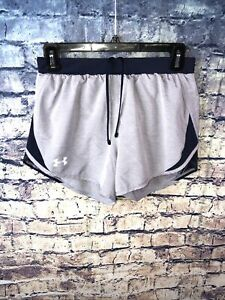 Under Armour Heat Gear Loose Fit Gray Lined Running Shorts Size 🔥XS