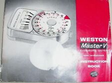 Instructions WESTON MASTER V exposure meter   .. CD/email