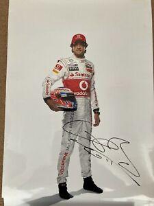 Jenson Button Signed McLaren Photo 2011