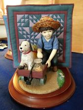 The Amish Heritage Collection 1993 Jacob And Toby Statue / Bookend / Willitts