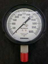 Marsh Masterguage High Pressure Gauge 0 600 Psi 5 316 Stainless Tube 12108 2