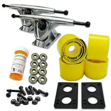 HD7 Longboard Combo set - Polished trucks (Solid Yellow)