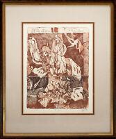 Horst Janssen: Nigromontanus. 2. Zustand. [19]82. Sign. Original-Farbradierung.