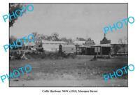 OLD LARGE PHOTO COFFS HARBOUR NSW MOOMEE STREET c1910