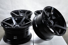 15x8 Gloss Black 4x100 Spark Neon Escort Accord Civic Miata Cooper Mirage Jetta