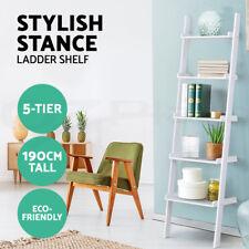 Artiss 5 Tier Ladder Wall Shelf Stand Storage Book Shelves Display Rack Shelving