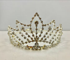 Crystal 361 Tiara Crown - Silver Tone