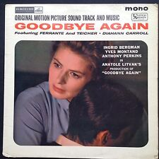 GOODBYE AGAIN Film Soundtrack OST LP Georges Auric Anatole Litvak Ingrid Bergman