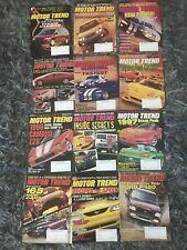 Motor trend Car Magazine 1996 Full Set back issues All 12 Jan-dec
