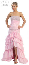 SALE ! HIGH LOW EVENING GOWN FORMAL DANCE HOMECOMING LONG PROM DRESS UNDER $100