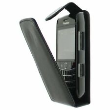 Leather Flip Case for Blackberry 9700 Bold Black UK