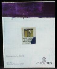 Catalogue Christie's Contemporary art II november 1989 NM -