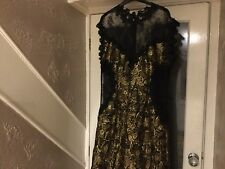 Nwot Myleene Klass Black And Gold Evening, Cruise, Christmas Party Dress Size 18