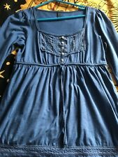 Blue Marks and Spencer ladies top, size 10, 60% cotton 40% polyester