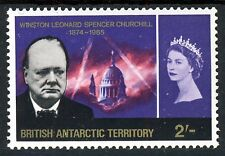 BRITISH ANTARCTIC TERRITORY 1966 Churchill Commemoration 2 Shillings SG 23 MNH