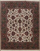 Floral Traditional Ardakan Oriental Area Rug Hand-knotted Wool Carpet 8x8 Square