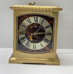 Vintage Howard Miller Brass Alarm Clock for Desk Shelf Mantle 4RE603