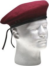 Military Beret Army  Eyelets No Flash Wool, Various Colors