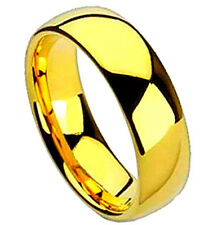 Gold Plated 8mm Titanium RING, Wedding Band, sizes 7, 8, 9, 10, 11, 12, 13, 14