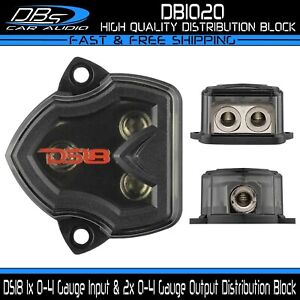 DS18 Power Ground Distribution Block 1x 0-4 Gauge Input & 2x 0-4 Gauge Output