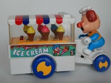Vintage Cheng Ching Ice Cream Cones Cart Bicycle Toy 1980's