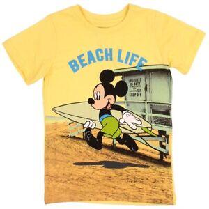 NWT DISNEY MICKEY MOUSE BOYS SURF BEACH SUMMER TSHIRT Sizes 4, 5, 6, 7