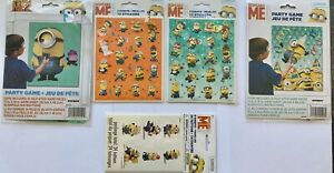 Minions Despicable Me Birthday Party Game Decoration Supplies Stickers Tattoos