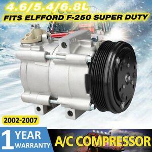 New A/C Compressor w/Clutch Fits 02-07 Ford F-150 F-250 F-350 4.6L 5.4L 6.8L