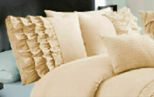 2 PC Half Ruffle Pillow Cases 1000 TC Super Egyptian Cotton Select Colors & Size