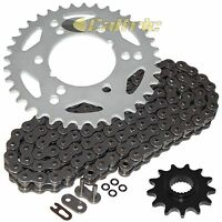 Black O-Ring Drive Chain /& Sprockets Fits HONDA TRX200 TRX200D Fourtrax 90-97