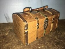 A Tally-ho Creation Wooden Purse Hand Bag Made In Japan