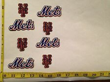 8 New York Mets Rare OOP Fabric Applique Iron On Ons