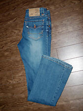 Dollhouse Size 30x30 Womens Pool Wash Flare Low Rise Rock & Roll Jeans