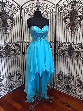 1137 ME PROM BY MOONLIGHT RS2262 SZ 2 AQUA $278 PROM HOMECOMING FORMAL DRESS