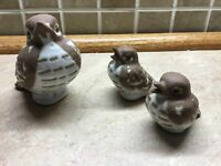 Set of 3 Fitz and Floyd Birds -Ceramic-FF Japan-