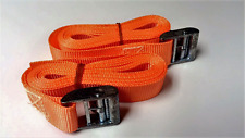 Cam Buckled Straps Set 3m x 25mm Roof rack Ratchet Buckle Securing load orange