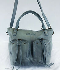LIEBESKIND Berling Grace Light Blue Leather Convertible Shoulder Bag Msrp $298