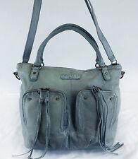 LIEBESKIND Berling Grace Light Blue Leather Convertible Shoulder Bag Msrp $298