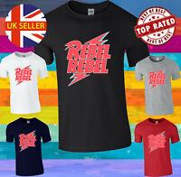 Rebel Rebel David Bowie Ziggy Stardust Men Women Unisex T-shirt Vest Top 3903