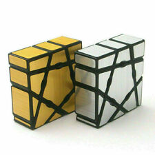 2 Pack Mirror Gold+Silver Ghost 1X3X3 Smooth Magic Cube Puzzle Rubix Toys Game