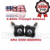 2x For TBS Team BlackSheep 5.8GHz Triumph Antenna SMA 5500-6000MHz For FPV