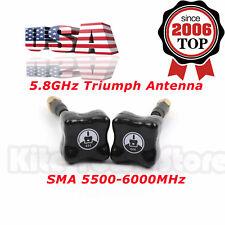 2x TBS Team BlackSheep 5.8GHz Triumph Antenna SMA 5500-6000MHz For FPV Race