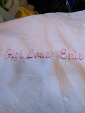 Light pink plush fleece 36x30 monogramed personalized fleece blanket